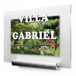 Plaque plexiglas design