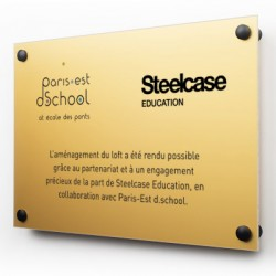 Plaque aluminium Or
