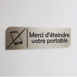 Pictogramme inox brossé - Parking