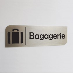 Pictogramme inox brossé - Bagagerie